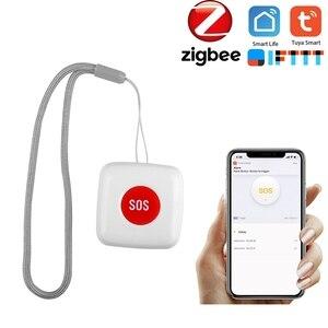 Пульт дистанционного управления SOS Кнопка сигнализации Водонепроницаемый аварийный выключатель работает с Tuya Zigbee Hub