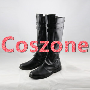 Image 2 - AnakinSkywalker Black Cosplay Shoes Boots Halloween Carnival Cosplay Costume Accessories