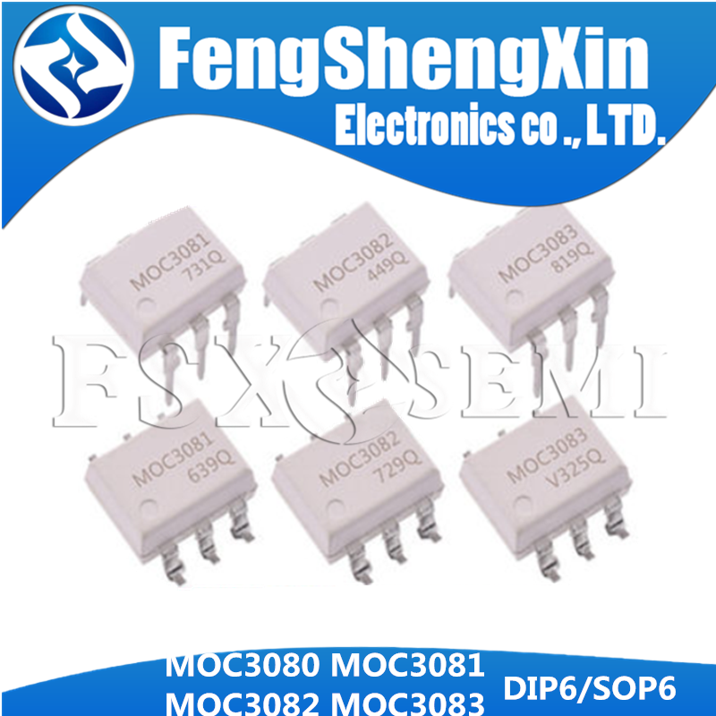 10 шт. MOC3080 MOC3081 MOC3082 MOC3083 DIP6 DIP SOP6 SOP Оптическая муфта