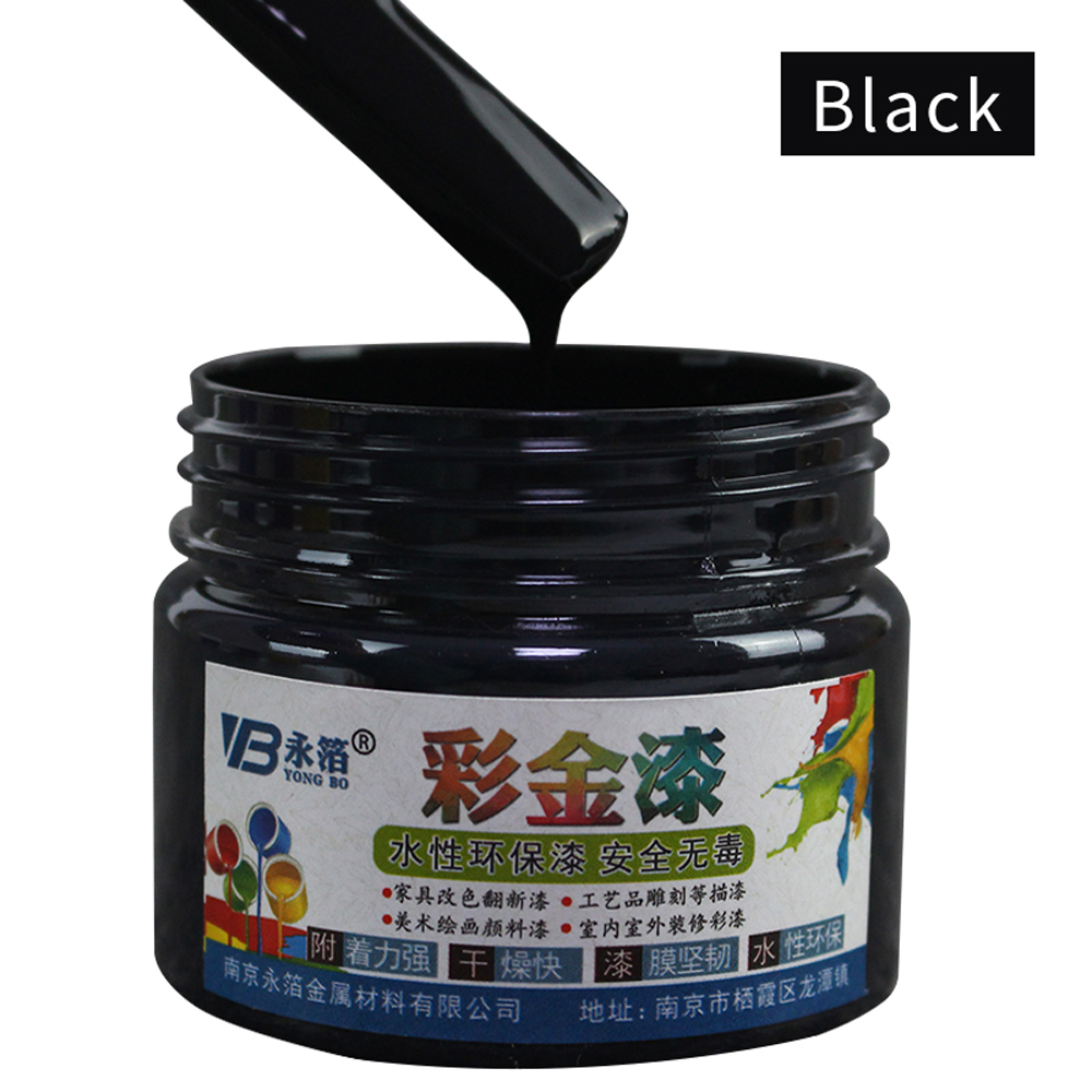 100g Black Wood Varnish Water-based Paint Acrylic Paint In Wall Craft Wooden Metal Door Fabric Paint For Wood Furniture Paint