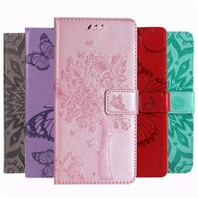 Girl Solid Color Embossing Phone Case For Motorola Moto E7 G8 Power One Power G6 G7 Play E4 E5 E6 Plus Tree Cat Stand Cover O06F(China)