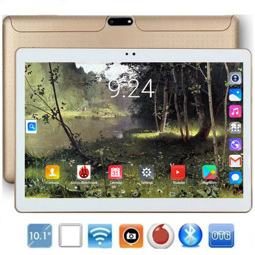 2020 New Tablet Pc 10.1 Inch Android 8.0 Tablets 8GB+128GB Ten Core 3g 4g LTE Phone Call IPS Pc Tablet WiFi GPS 10 KidsTablets
