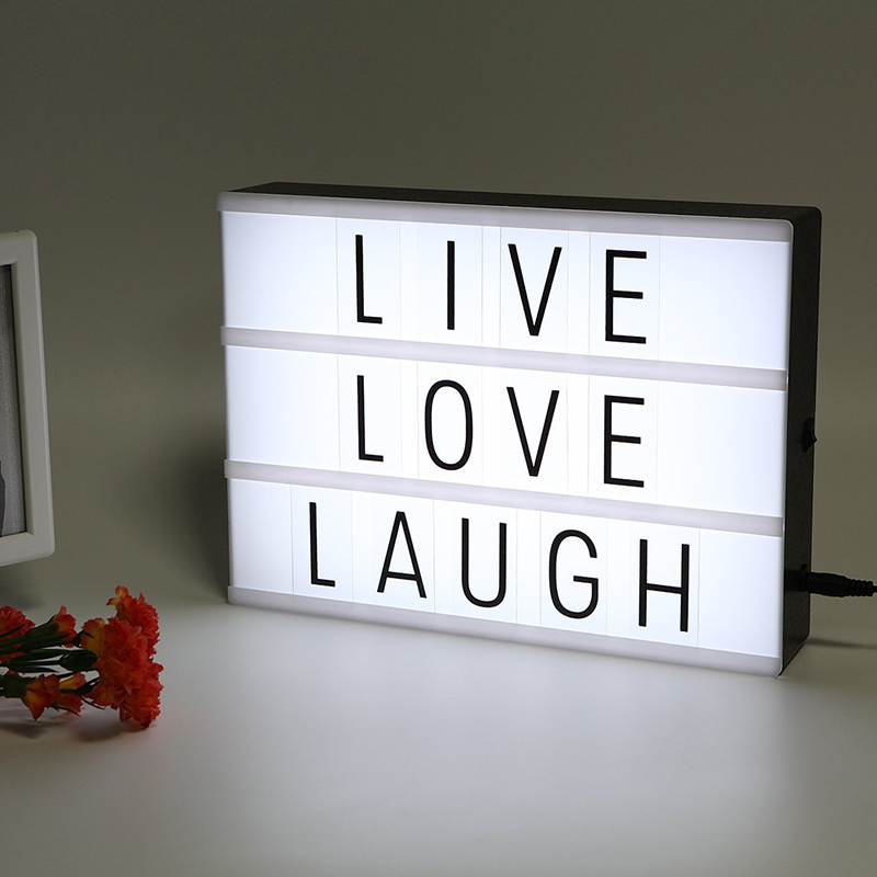 A4 A6 Cinema Lightbox LED Combination DIY Colorful Night Light Box Lamp Black Letters Cards Message Board Lights Box Gifts