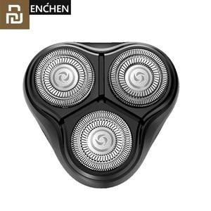 Image 1 - Youpin Enchen שחור אבן 3D לצוף ShaverHead כפול טבעות תער חותך ראשי CutterHead לגברים מתנה מיקום ShaverHead
