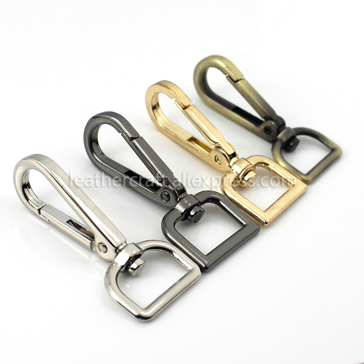 1pcs Metal Swivel Eye Snap Hook Trigger Clasps Clips for Leather Craft Bag Strap Belt Webbing Keychain Hooks Length 60mm 2 3 8 quot in Buckles amp Hooks from Home amp Garden