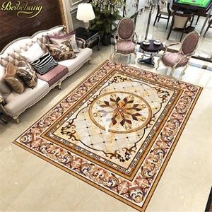 Image 4 - beibehang tile custom European style marble carpet pattern 3d floor tiles self adhesive wallpaper vinyl flooring waterproof