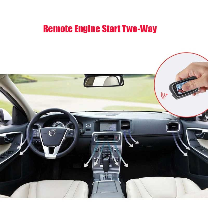 Double-sound LCD Screen Remote Control To Start Car Alarm  Automatic Trunk Opening Pke Keyless Entry Sheriff Signaling Starline