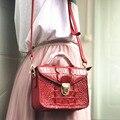 4000644503377 - Ouruli importación Tailandia piel de cocodrilo verano señora slung mano conocimiento de embarque bolso de hombro mujeres solapa bolsa lady small square