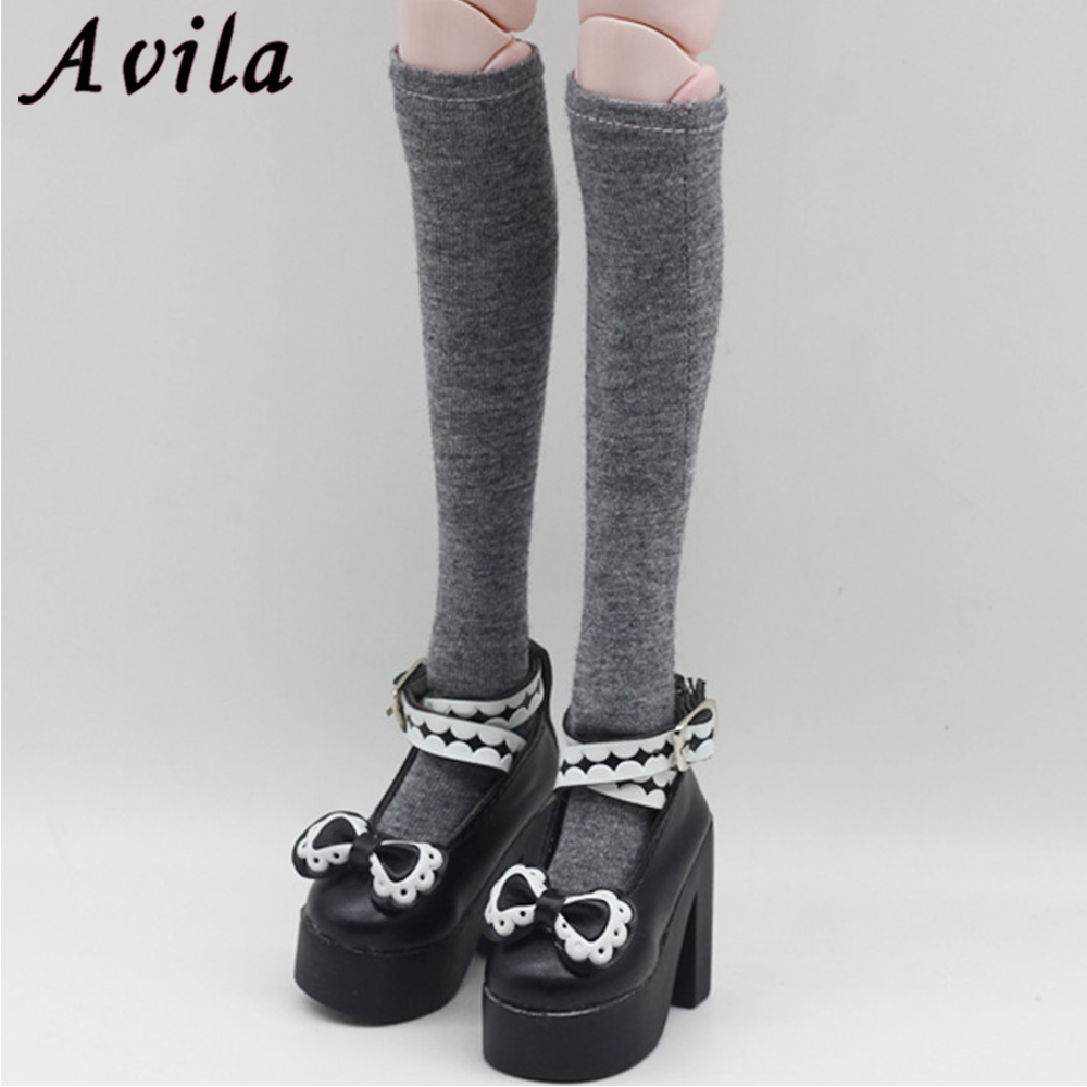 Fashion Colorful Handmade Lace Stockings Long Sock Legging Casual Wear Accessories Dress Clothes For Barbie Doll Baby DIY Toy