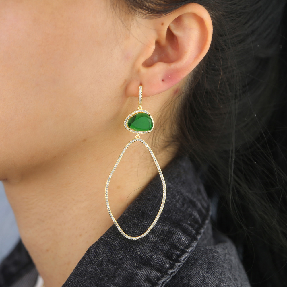 BRASS drop earring Y (6)