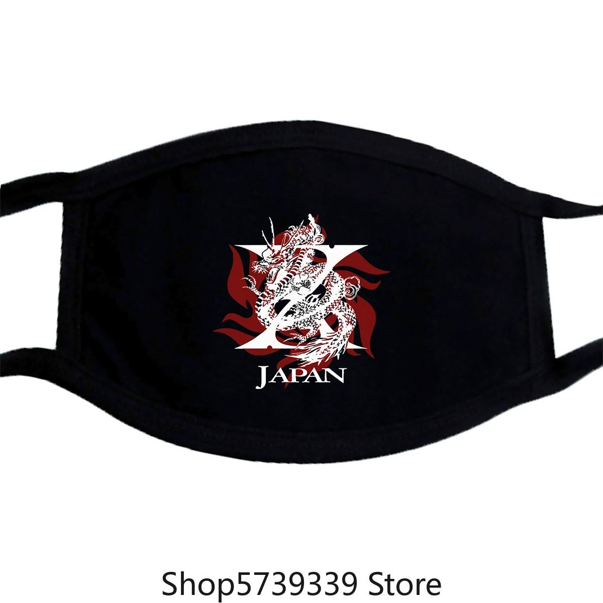 New X Japan Yoshiki Toshi Hide Japanese Heavy Metal Tour Mask Washable Reusable Mask