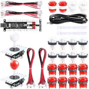 2-Player DIY Arcade Kit Zero Delay 2X USB Encoder+2X Joystick+20x LED Arcade Buttons for PC, Windows, MAME, Mac & Raspberry Pi цена 2017