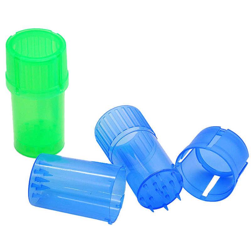 Kunststoff Tabak Grinder Herb Spice Schleifen Brecher Lagerung Container Fall