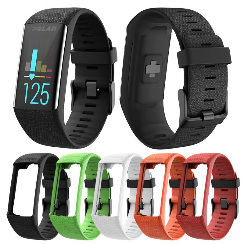 For Polar A360/370 Smart Strap Replacement Silicone Watch Strap Bracelet Running Sport Wriststrap Buckle Watch Smart Bracelet