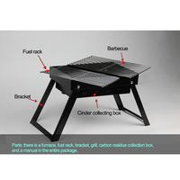 TPFOCUS Square Carbon oven Manual BBQ Portable Carbon Grill Small and Compact Oven Camping Parties Barbecue