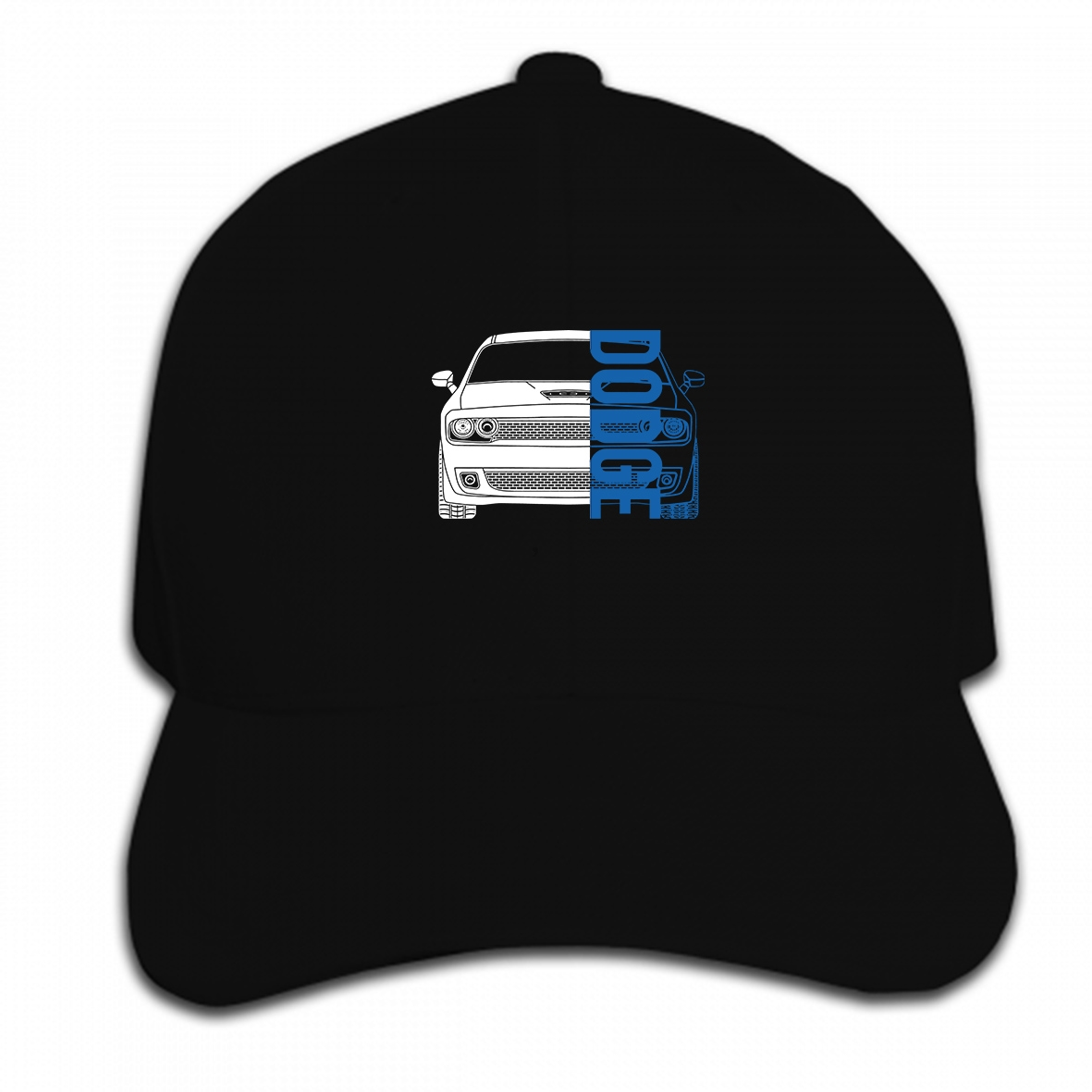 Print Custom Baseball Cap Dodge Challenger Hellcat SRT Double Sided  Hat Peaked Cap