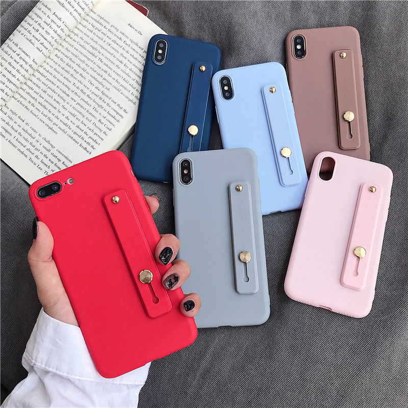Luxury Bracket Case for Huawei P8 P9 P10 P20 P30 LITE Mate 9 10 20 PRO Mate20X Nova 3E 4E P20PRO P30PRO Wrist Strap Phone Cover
