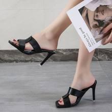 Новинка 2020 римские тапочки на ультравысоком тонком каблуке