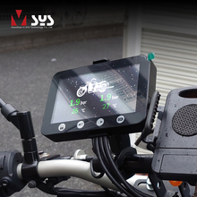 VSYS F4.5 4.5 LCD Motorcycle DVR Moto Camera Recorder with TPMS Smart Gauge Dual 1080P SONY IMX307 Starvis WiFi Waterproof