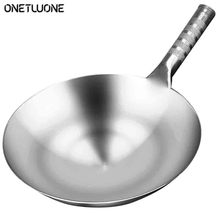 Cooker-Pan Wok Non-Stick Traditional Stainless-Steel Chinese Gas-Wok Rusting Thick High-Quality