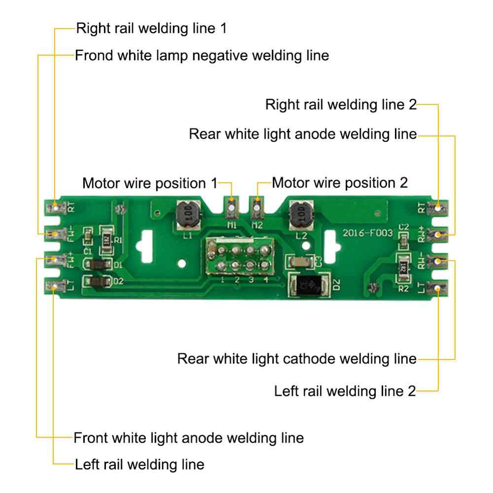 2 قطعة HO مقياس 1/87 نموذج قطار لوحة توزيع الطاقة مع حالة Led ل تيار مستمر/التيار المتناوب الجهد دون المقاوم PCB011