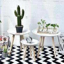 Estilo Simple mesa de té y café mesas de sala casa Cama-Mesa combinación decoraciones