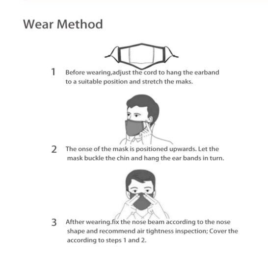 Fashion Reusable Protective PM2.5 Filter Printing mouth Mask anti dust Face mask with 7 Filters Windproof proof Flu Mask 5