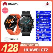 Huawei watch gt2 gt2e versão global gps 14 dias à prova d água telefone inteligente rastreador de frequência cardíaca para android ios