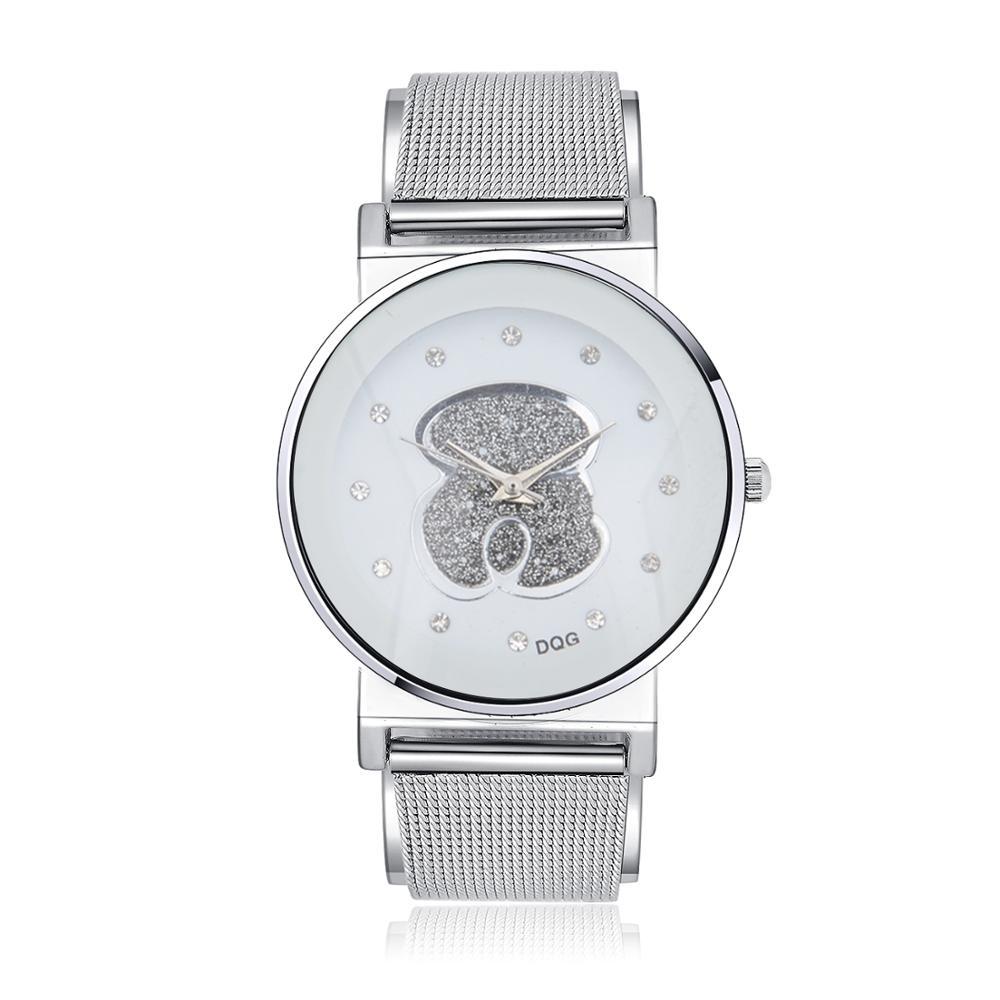 Kobiet Zegarka 2019 New Women Watch Relogio Feminino Fashion Brand Analog Bear Watches Women Quartz Wristwatch Reloj Mujer