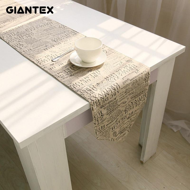GIANTEX Linen Table Runner Modern Table Runners Decoration Track On The Table Setting Chemin De Table Camino De Mesa Tafelloper