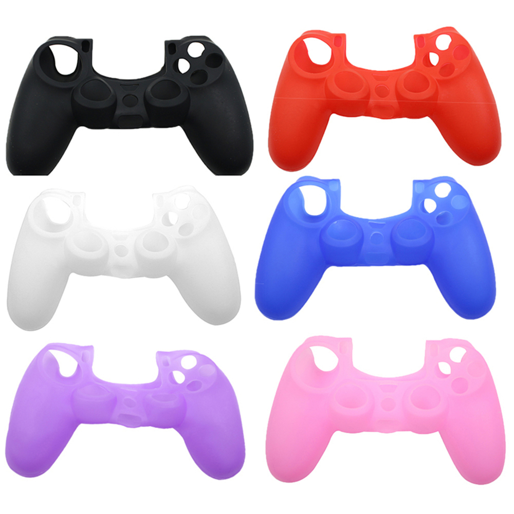Soft Silicone Case Skin Cover Protection for Sony PS4 Controller Grip Handle Console Anti Slip  Protective Skin Case
