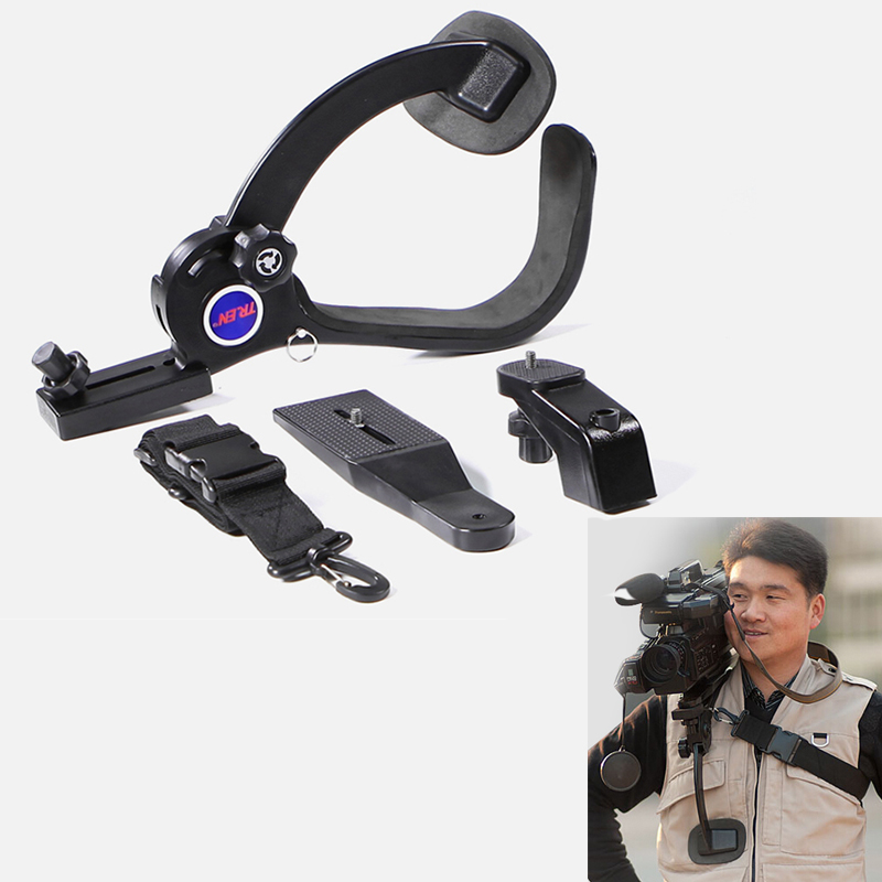 New Video Camcorders DSLR Hands-Free Shoulder Support Tripod Rig for Nikon DV