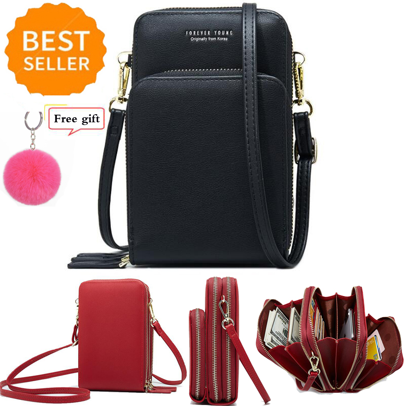 New High Quality Fashion Small Crossbody Cell Phone Purse For Women Mini Messenger Shoulder Bag Wallet With Credit Card Slots