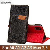 Flip Phone Case For Xiaomi Mi A1 A2 Lite A3 lite For Max 2 3 Mix 2s 3 Poco F1 Y3 Case Cowhide Card slots Cover