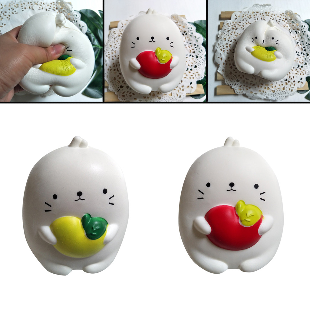 Apple Pinch Le Vented Decompression Toy Squishies Fun Rabbit Decor Slow Rising Kid Toy Squeeze Relieve Toys Gift L0116