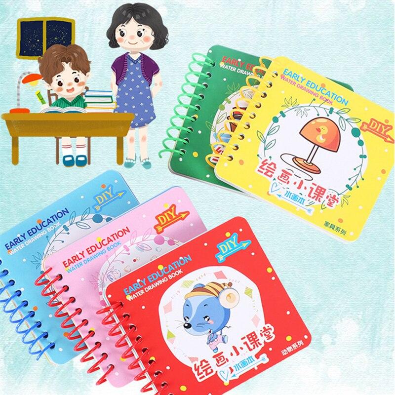 Diy волшебная водяная книга для рисования, книги для раскрашивания, каракули и волшебная ручка, живопись животных, принцесса, доска для рисов...