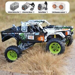 Image 4 - MOC 3320 voiture technique Compatible avec 42099 énergie recul Baja camion blocs de construction assemblage briques jouets enfants cadeau de noël