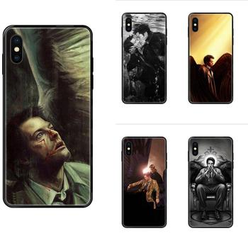For Samsung Galaxy S5 S6 S7 S8 S9 S10 S10e S20 edge Lite Plus Ultra Soft Fashion Mobile Phone Supernatural Castiel Painting Art image
