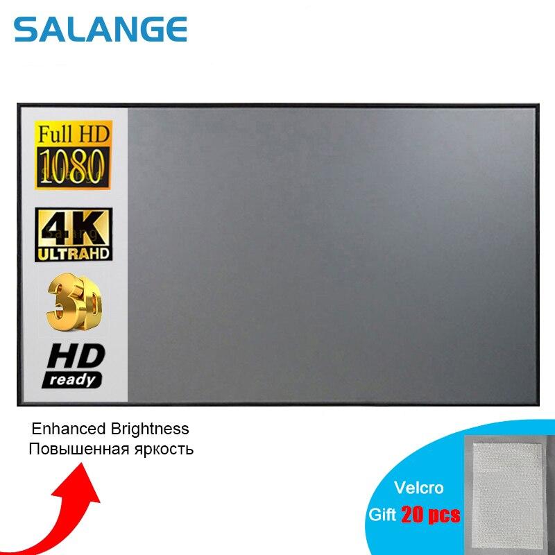 экран для проектора Salange занавес анти-светильник экран проектора кронштейн для проектора 16:9:10 ,100 120 дюймов портативный светоотражающий Ткан...