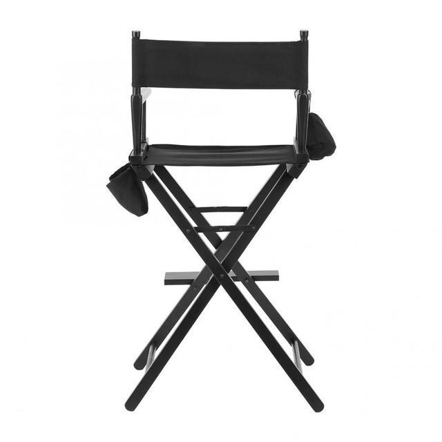 Professional Makeup Artist Directors Chair Wood Lightweight Black Foldable Chair 3