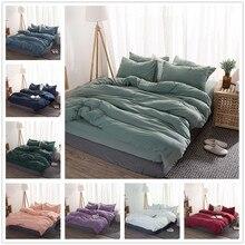 FAMIFUN yeni ürün katı renk 3/4 adet nevresim takımı mikrofiber yatak örtüsü lacivert gri yatak çarşafları yorgan yatak örtüsü seti yatak çarşafı