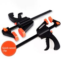 4 Inch Wood Working Clamp Grip Heavy Duty F Clamp Clip Wood Working Quick Grip Bar Woodworking Clamps Ratchet Release Squeeze