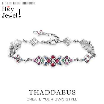 Magníficas pulseras de ornamentación 2020, nueva cadena de eslabones, joyería de realeza de Plata de Ley 925, regalo de época victoriana para mujer
