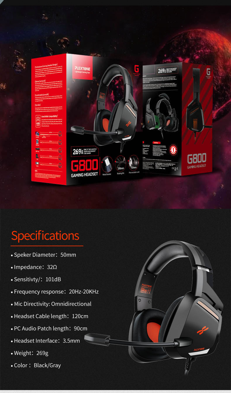 Plextone G800 Gaming Headset 7