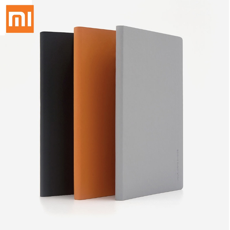 2pcs Xiaomi Note Book Mijia Kaco Green Noble Smooth Paper NoteBook PU Leather Cover Slot Writing Book For Office School Gift