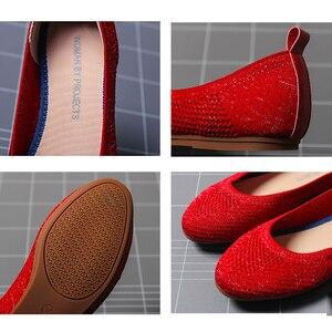 Image 5 - 여성 플랫 슈즈 Zapatos De Mujer 가을 2019 라운드 플랫 슈즈 로퍼 발레리나 Femme Tenis Feminino 캐주얼 블랙 레이디스