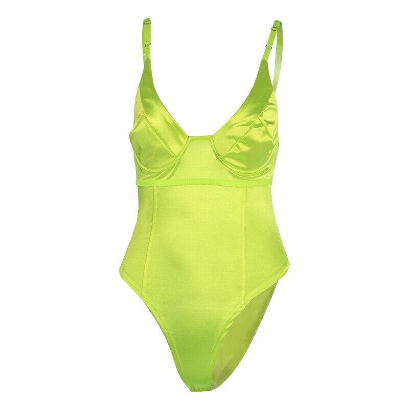 Fashion Multicolor Women Bodysuit Deep V Neck Front Sexy Straps Plain Skinny Sleeveless Bodysuits Women Summer Stretchy