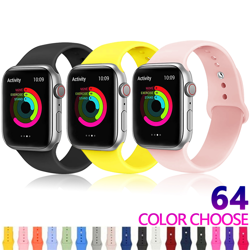 Strap Für apple watch Band apple watch 4 3 2 iwatch band 42mm 44mm 38mm 40mm Correa armband Silikon armband gürtel <font><b>Zubeh</b></font>ör image