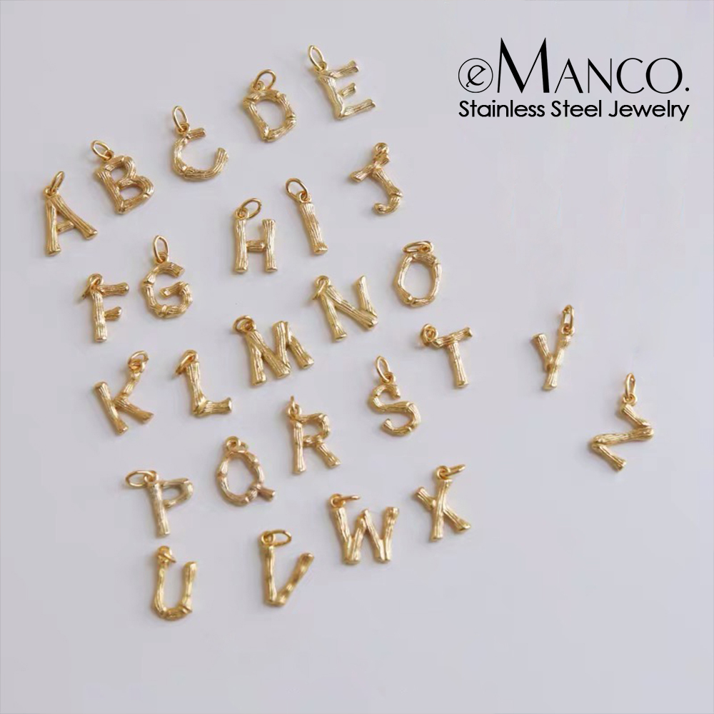 Initial Charms 26 English Alphabet Letter Charm Pendants For Women Man DIY Necklace Bracelet Jewelry Making A-Z