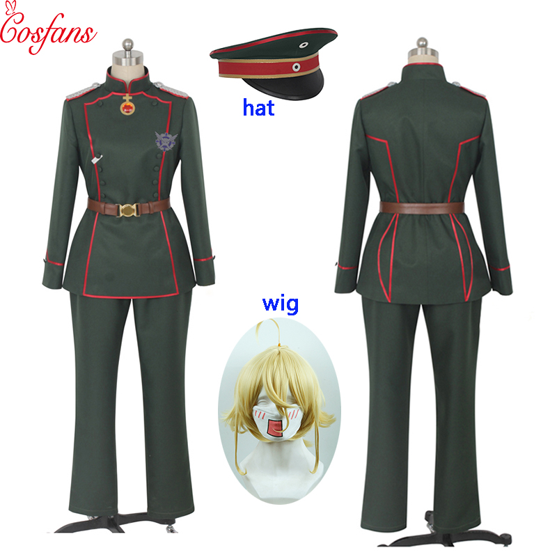 Saga Of Tanya The Evil Tanya Von Degurechaff Women Cosplay Costume Stage Performence Clothes Halloween Men Costumes And Wigs